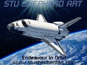 Space Shuttle Endeavour In Orbit