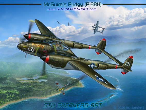 P 38 Lightning Stu Shepherd Art